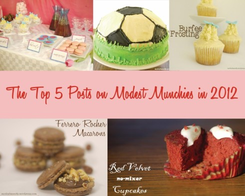 Top 5 Posts on Modest Munchies in 2012